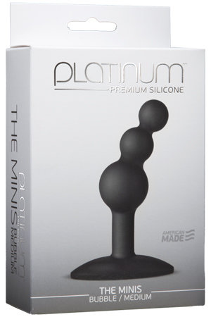 0103-46 Анальный стимулятор Platinum Premium Silicone - The Mini's Bubble Medium - Black M черный